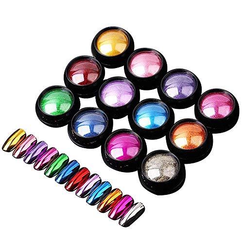 Flash de uñas - Del arte del clavo del brillo de espejo en polvo brillante cromo brillo Rub polvo del pigmento for Diseño de uñas de manicura espejo del brillo 0.5g Decoración de uñas brillante
