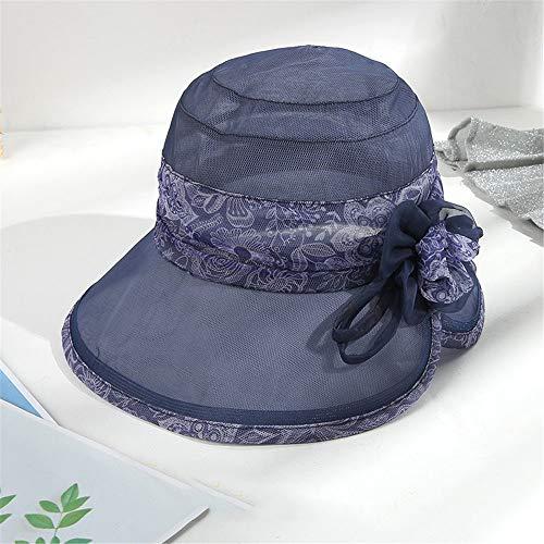 LZMZ2222 Sun Hat/Sombrero de Seda para Mujer, Verano, Sombrero para el Sol, protección contra el Sol, Sombrero para el Sol, Playa de Seda Plegable, Sombrero para Mujer, Sombrero Fresco, púrpura