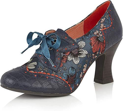 Ruby Shoo Daisy Russet Floral Brocade Zapatos cerrados para mujer, color Azul, talla 42 EU
