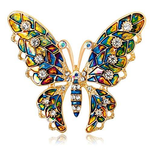 Broche de Mariposa, Broche, Broche de Mariposa de Color, Broche Creativo único Broche Mariposa Color Broches para Vestidos de Fiesta