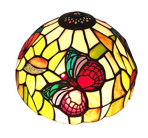 Tiffany Estilo E-NTA031-U Lámpara de Mesa de Mariposas Pantalla / Iluminación de Techo, Multi-Color, Paquete de 8 pulgadas de 1