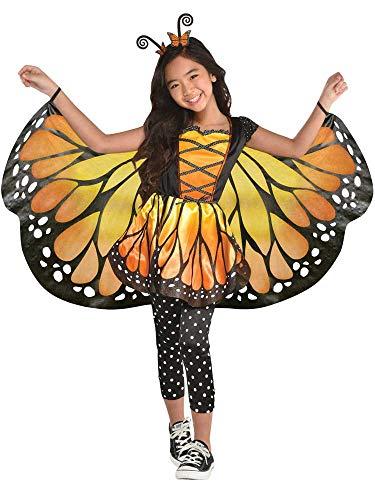 amscan 9904784 - Disfraz de mariposa monarca (4 a 6 años), multicolor