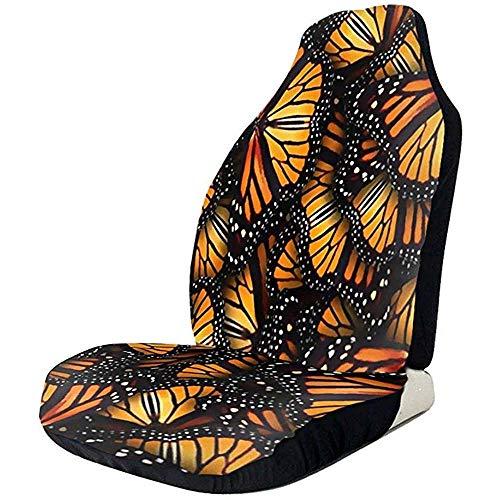 MOLLUDY Montones de fundas de mariposas monarca anaranjadas Cojín antideslizante para auto Almohadilla sucia a prueba con correas elásticas Resistentes a las arrugas