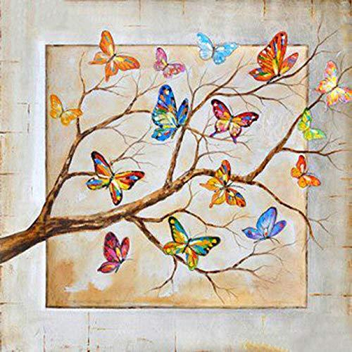 LZQZJD 300 Piezas de Rompecabezas clásicos, Rompecabezas de Madera, Ramas de Mariposas artísticas, Juguetes para niños para niños