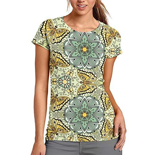 best & Vector con mariposas flores fiesta camiseta de mujer pequeña