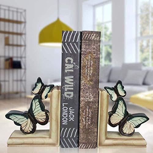 Estatuas de equipo de vida Resina negra amarilla Escultura creativa Mariposa Estantería Estatua abstracta hecha a mano Decoración de oficina en casa Sala de gabinete Artesanía Adornos de arte Escul