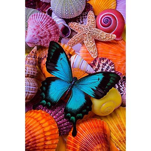 Yingxin34 Rompecabezas para Adultos 1000 Piezas Rompecabezas de Mariposas y Conchas Tangram Puzzle Juego de Rompecabezas Grande para Adultos y Adolescentes 26x38cm
