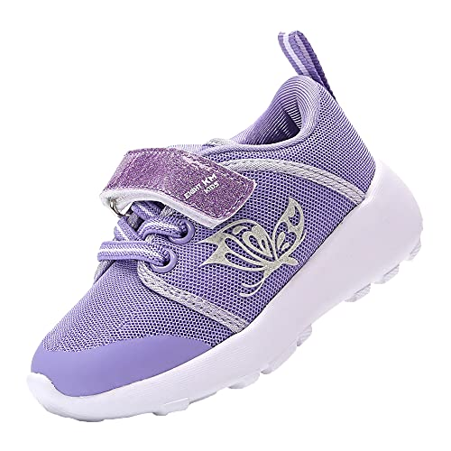 EIGHT KM Zapatos para niños pequeños/niñas Zapatillas de Deporte Ligeras para niños EKM7022 Mariposa Violeta Talla 24