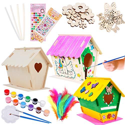 Tacobear Casa de Pájaros Madera Manualidades Kit para Ninos Casa de pájaros para Pintar de Bricolaje Construir Casa Pájaros Colgar Pintura Juguetes Creativo Regalo para niños