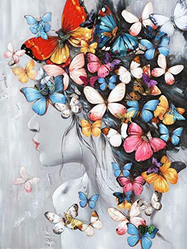 Meubletmoi - Cuadro decorativo para pared, diseño de mariposas, multicolor