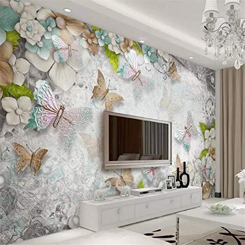 Murales Decorativos Pared 3D Papel Pintado,Arte Colorido Lindo Del Insecto De La Mariposa Voladora,Pintura Mural 3D Personalizada En La Pared De Ladrillo Fondo De La Foto Del Vinilo Niños Adulto