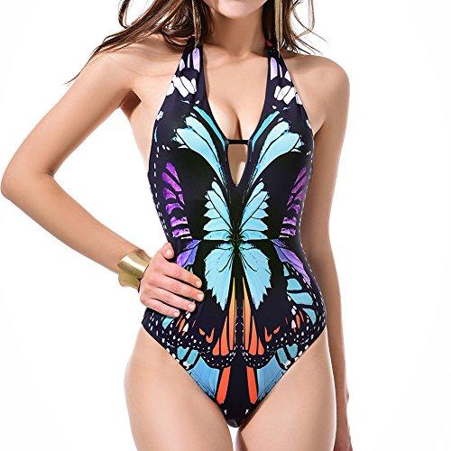 Vintage Bañadores Bañador Brasileño Bañador Mujer Sexy Bañadores De Mujer Tallas Grandes Talle Alto Playa Traje Traje De Bafio Una Pieza Bañador Modelo Mariposa