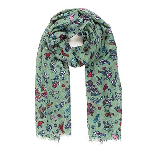 Bufanda para mujer, ligera, diseño de mariposa, para otoño e invierno, bufandas y chales - verde - Talla única