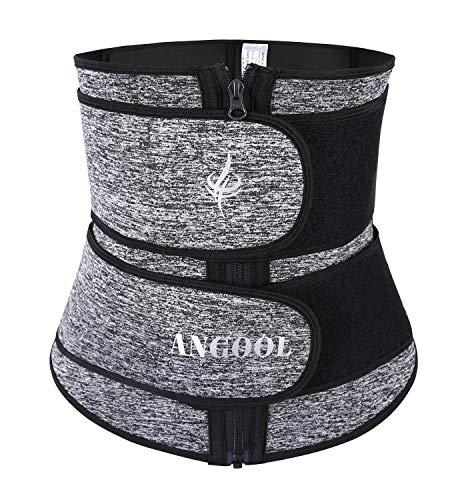 ANGOOL Fajas Deportivas Neopreno Cinturón Lumbar de Sudoraicion Cinturón de Cintura para Mujeres Cinturón Transpirable Cintura