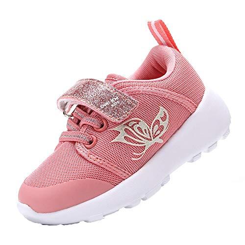 EIGHT KM Zapatos para niños pequeños/niñas Zapatillas de Deporte Ligeras para niños EKM7022 Mariposa Coral Talla 24