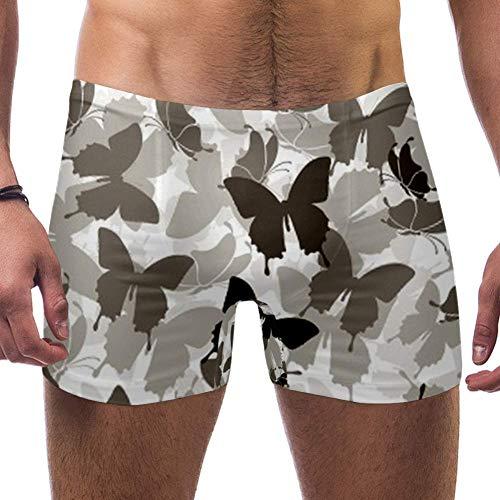 TIZORAX - Bañador para hombre, diseño de mariposa Multicolor multicolor S-cintura 26.8,longitud 11,ancho 28.3/pied 21 cm