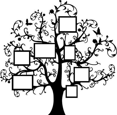 (180 x 178 cm) de vinilo adhesivo decorativo para pared de árbol de marcos, y mariposas/marco de fotos de ramas de bosque lámina de decoración de incluye + al azar y calcomanías para tartas con diseño de regalo!