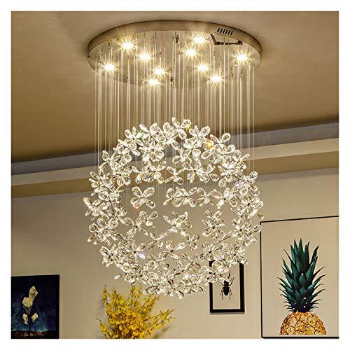 Fyftwh Iluminación de Techo Lámpara de Techo de Cristal de Lujo Moderno Lámpara de Techo for Sala de Estar Lámparas de luz de Mariposa Grandes Lámparas de Cristal
