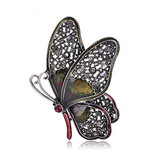 CLEARNICE Broche de Mariposa Vintage, broches de Insectos esmaltados Coloridos, joyería para Mujeres, niñas, Ropa, Sombrero de Bolsillo, alfileres, joyería, Regalos