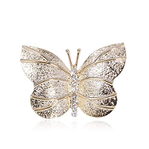 CLEARNICE Hermosos broches de Mariposa de Insectos, joyería de Cristal para Mujer, niña, Falda, Bufanda, suéter, Abrigo, Ropa, Accesorios de Moda