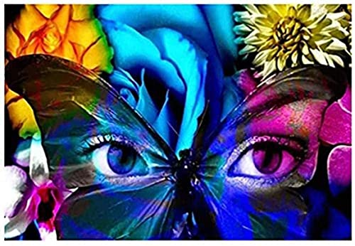 Lacvik Rompecabezas para Adultos 6000 Piezas Rompecabezas Grande Ojos de Mariposa Juego desafiante Juguetes Regalos Niños y Adolescentes Rompecabezas Familiar 180x106cm