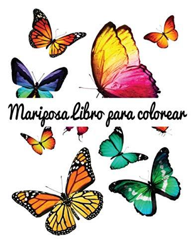 Mariposa Libro para colorear: Hermosas 50 mariposas de calidad premium para colorear