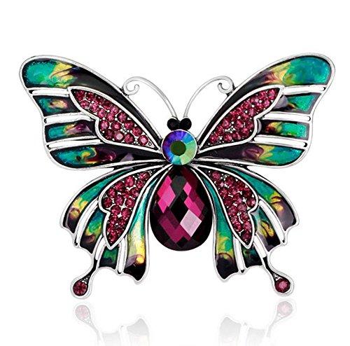 PULABO 1 broche de diamante mariposa mujeres ramillete regalo de Navidad boda novia pin vestido bufandas chal clip señora joyería bolsa ornamento calidad superior y creatividad