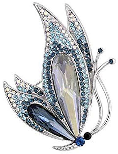 Fopoytqabg Brosche banquete boda banquete exquisito broche joyas broche perla mariposa exquisito broche