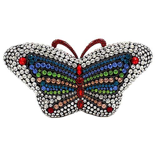 Santimon Brillante Bolso Mujer Noche Bolsa Fiesta Boda Cartera Mano Diamante Cadena Clutch Mariposa