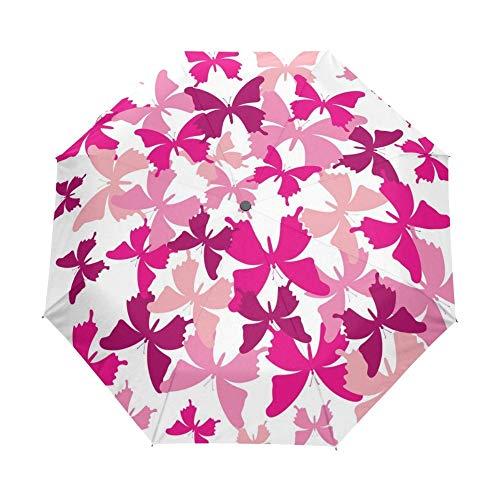 Paraguas Paraguas De Mariposa Románticos Plegables, Sombrillas De Lluvia Para Mujeres Y Niños, Sombrilla, Equipo De Lluvia, Sol, Playa, Guarda Chuva Paraguas