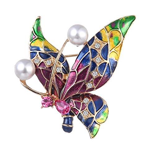 Broches de mariposa vintage broche de diamantes de imitación ramillete cubierto bufandas chal clip decoración de la ropa para la boda baile