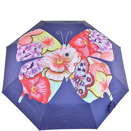 Anuschka Paraguas abierto y cierre automático   UPF 50+ Max protección solar   toldo impermeable de 38 pulgadas   cabe en bolso