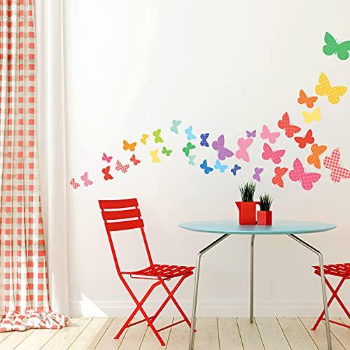 DECOWALL DW-1613 Mariposas Dulces Vinilo Pegatinas Decorativas Adhesiva Pared Dormitorio Saln Guardera Habitaci Infantiles Nios Bebs