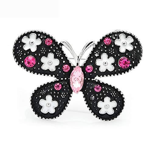 Flor Mariposa Broches Mujeres Unisex 2 colores Esmalte Insectos Fiesta Oficina Broche Pines Regalos