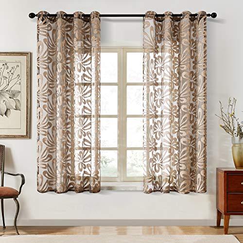 Top Finel Cortinas de gasa, paneles de 84 pulgadas de largo para dormitorio de niños, cortinas de mariposa, ojales, tratamiento de ventana, 2 paneles
