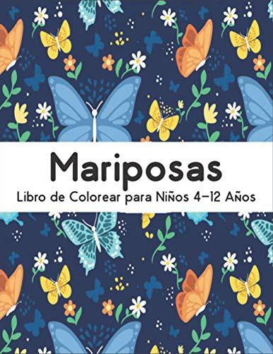 Mariposas Libro de Colorear: Aliviar el Estrés Libro de Colorear 50 Mariposas de una cara para Aliviar el Estrés y Relajación Diseños de mariposas para colorear ِMariposas para colorear