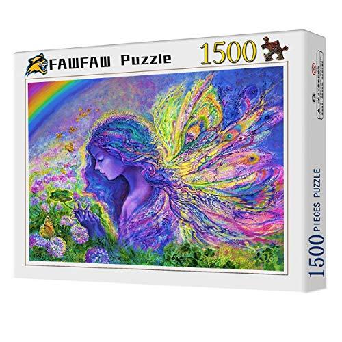 Puzles Adulto 1500 Piezas, Hada, Mariposa, Flores, 1500/1000/500/300 Piezas, Jigsaw Puzzle Game Toys Gift
