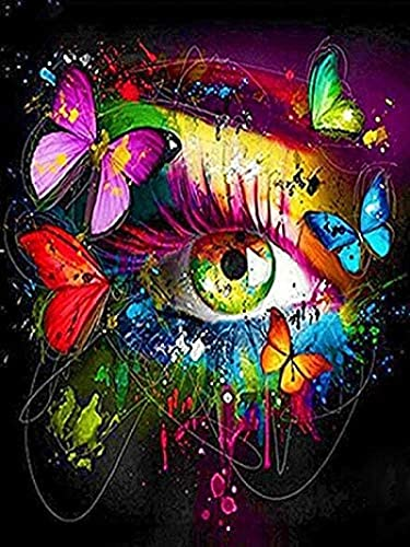 Lacvik 6000 Piezas de Rompecabezas niños Adultos Mariposa Ojos Pintados Rompecabezas Juguete-Familia educación Rompecabezas Juguete Regalo 180x106cm