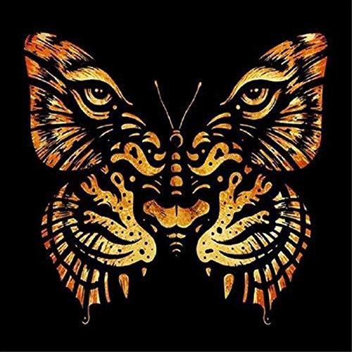 UYRT 6000 Rompecabezas de Madera, Tigre y Mariposas, Rompecabezas de Madera para Adultos y niños, colección de Juegos Familiares, Juguetes de decoración para el hogar