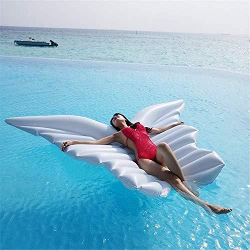 Ligero Piscina Cama flotante inflable balsa flotante POPC POOL TOURGO Forma de mariposa Blow Up Playa Juguete para niños y adultos Blanco Teds & Inflatables (Color: Blanco, Tamaño: 250x180cm)