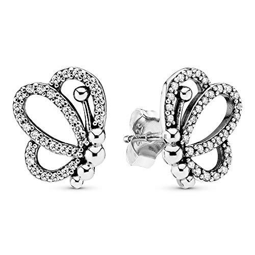 Pandora Pendientes de botón Mujer plata - 297912CZ