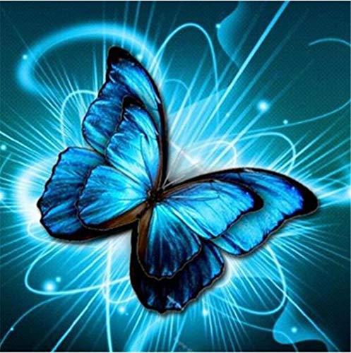 Puzzle 2000 Piezas,Mariposa Azul Puzzles para Adultos, Puzzle,Rompecabezas de Piso Juego de Rompecabezas y Juego Familiar 70X100cm(27.55X39.37inch)