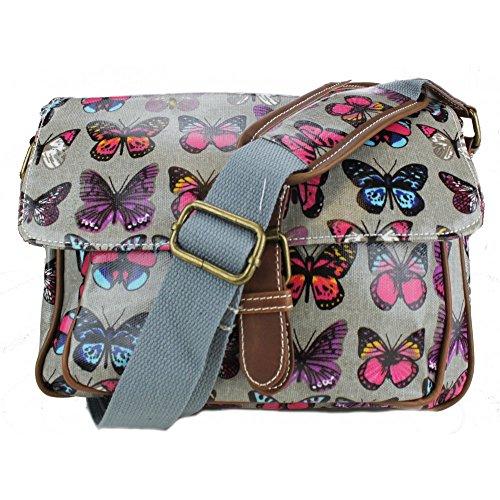 Miss Lulu - Bolsa pequeña de hule con estampado de mariposas, color, talla Talla única