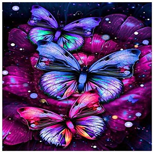Yingxin34 Rompecabezas 2000 Piezas Rompecabezas de Tres Mariposas Tangram Puzzle Juego de Rompecabezas Grande para Adultos y Adolescentes 70x100cm