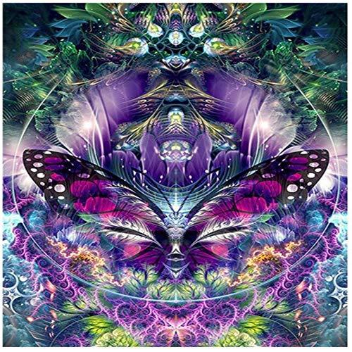 Yingxin34 Rompecabezas para Adultos 3000 Piezas - Rompecabezas de Flores de Mariposa moradas
