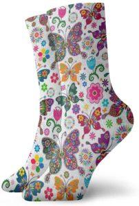 calcetín mariposa